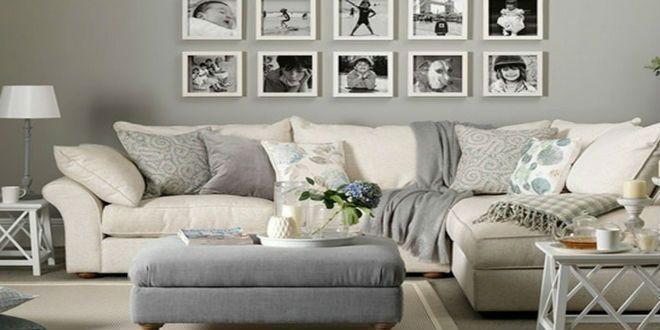 Decoración del Living Sofá Blanco