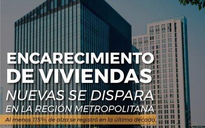 Encarecimiento de viviendas nuevas se dispara en la Región Metropolitana